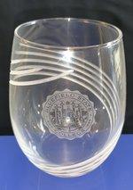 GLASS, ETCHED SWIRL CUT