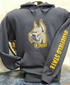 HOODIE, TRICOLOR DOG LOGO, BLUEFIELD STATE SLEEVE