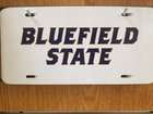 LICENSE PLATE, BLUEFIELD STATE