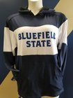 HOODIE,BLUEFIELD STATE, NAVY/WHITE COLOR BLOCK